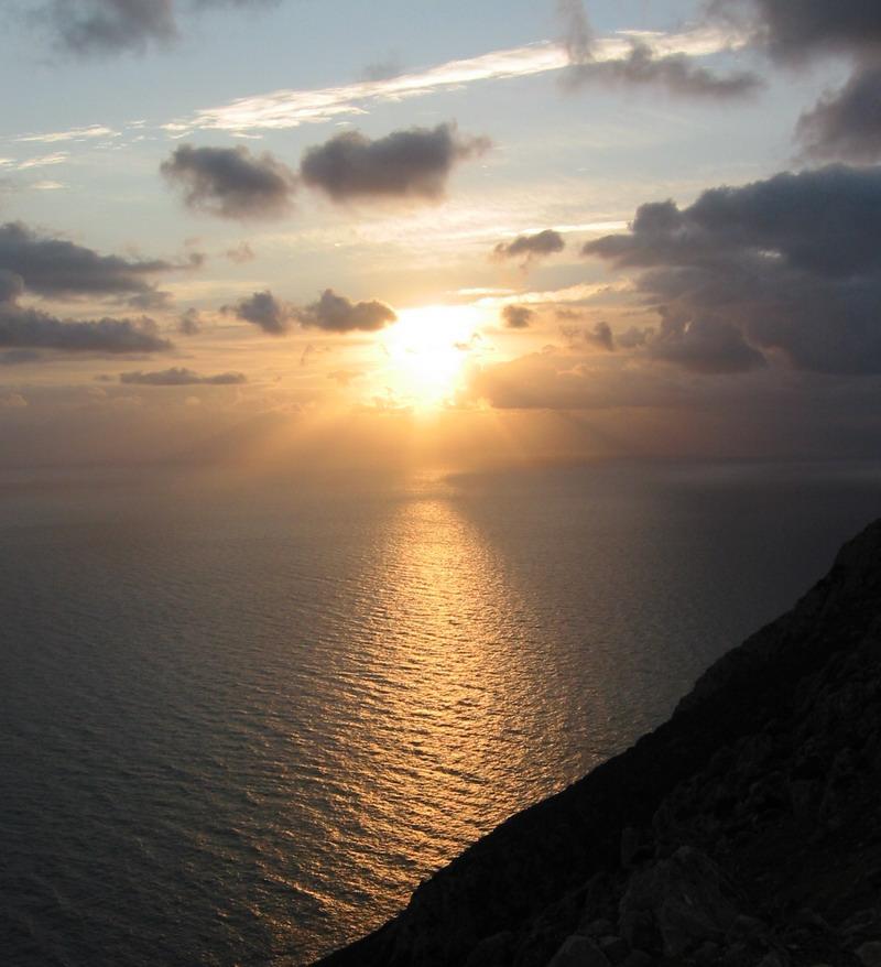 Sonnuntergang auf Kreta