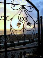 Sonnuntergang hinterm Türgitter (Hotel Sunrise Queen)