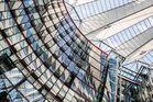 Sony-Center, Berlin, Spiegelung der Dachkonstruktion