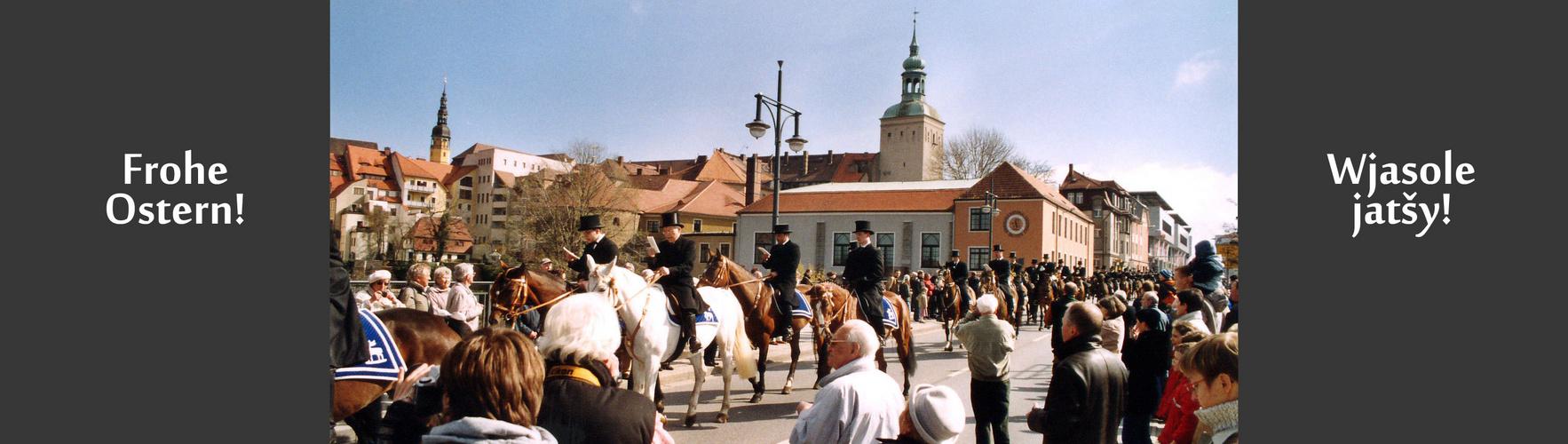 Sorbische Osterreiter in Bautzen
