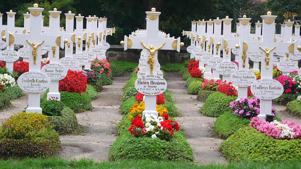 sorbischer Friedhof Ralbitz/Lausitz