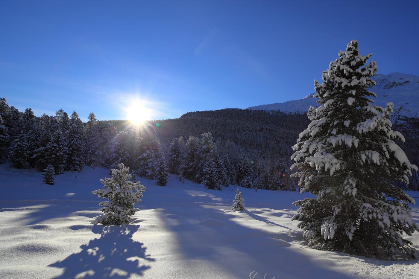 Sorgere del sole presso il Lago di Staz, Sankt Moritz