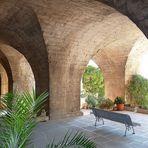 Soutènement de la terrasse des jardins, de l'Abbaye St André .
