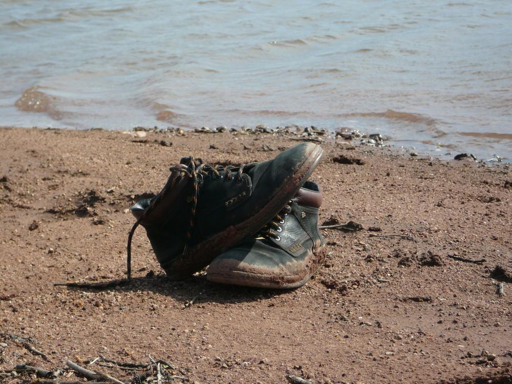 soweit die Schuhe tragen