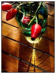 Spät-Sommersonne im Hagebuttenglas 2