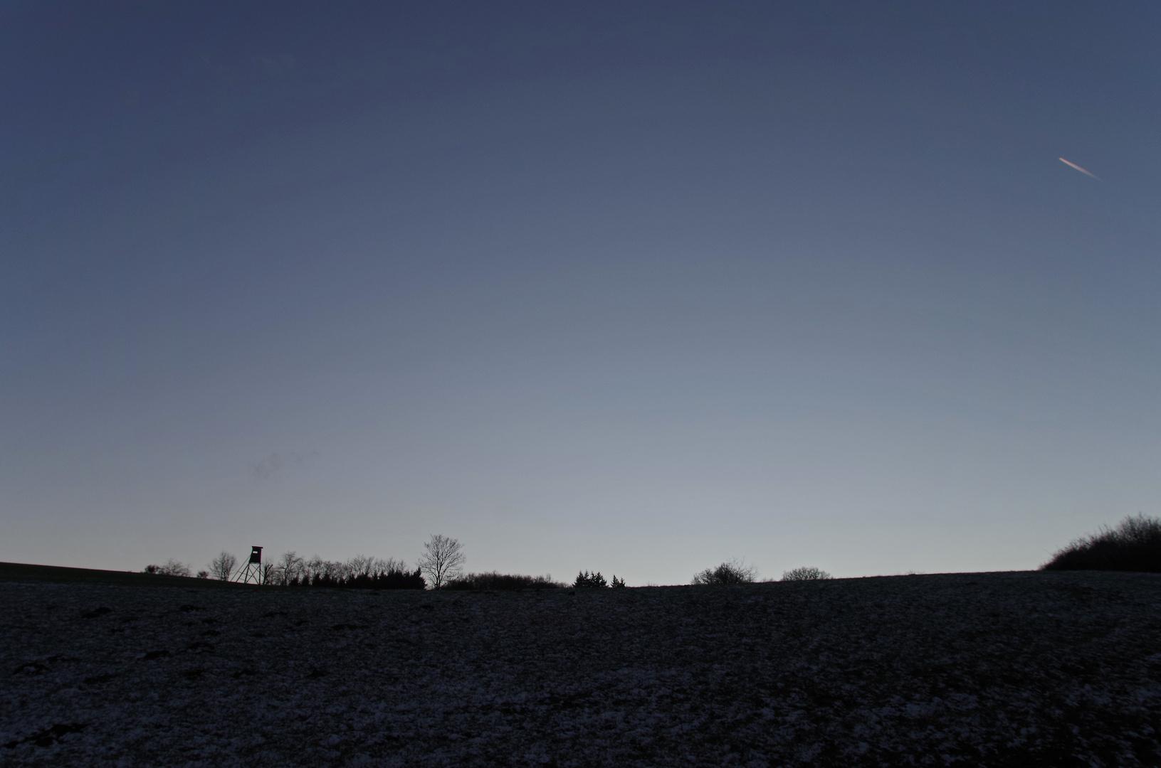 Spätabendhimmel in der Eifel