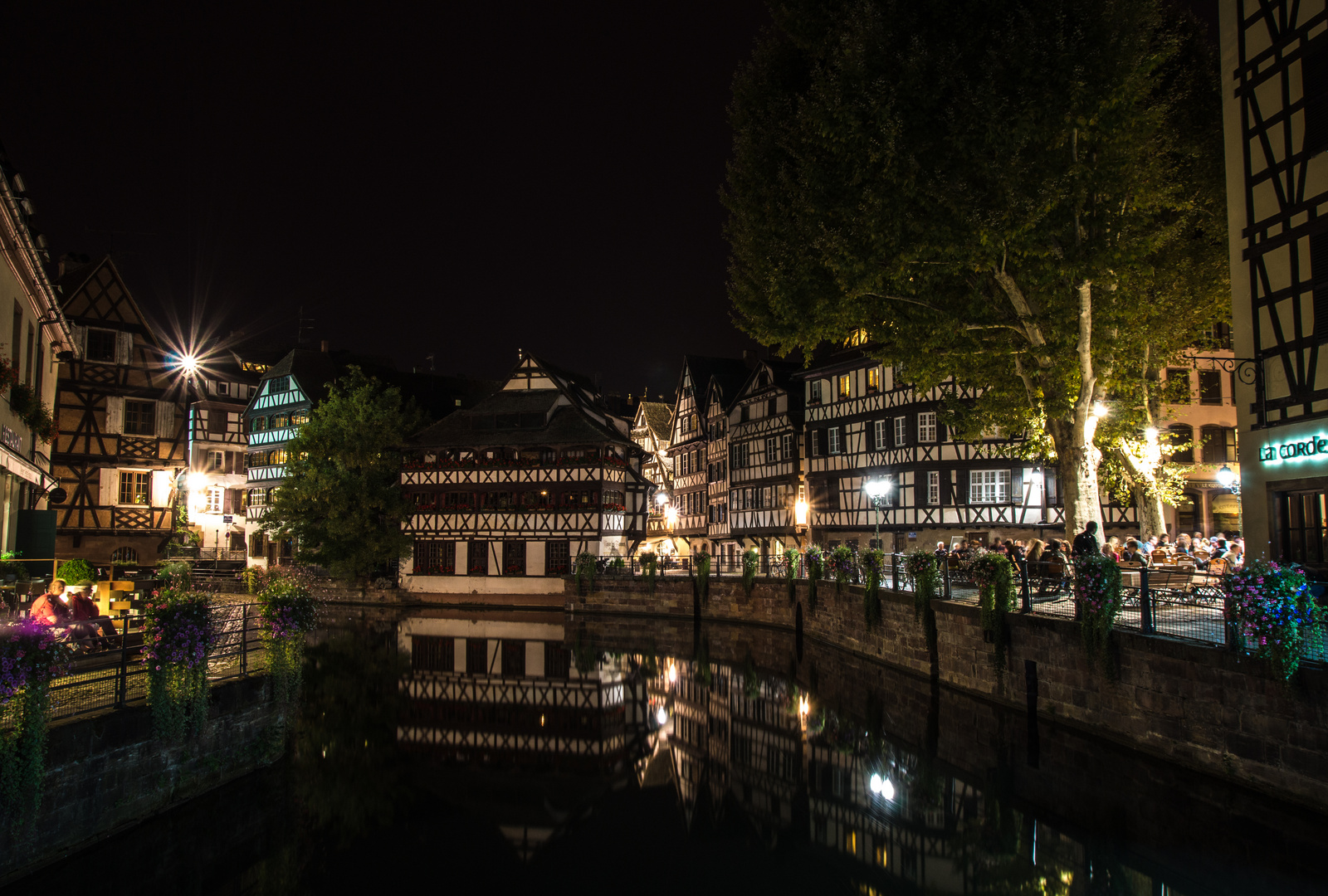 "Spätsommernacht in ""La Petite France"" Strasbourg"