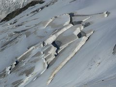 Spaltenlandschaft Gletscher...