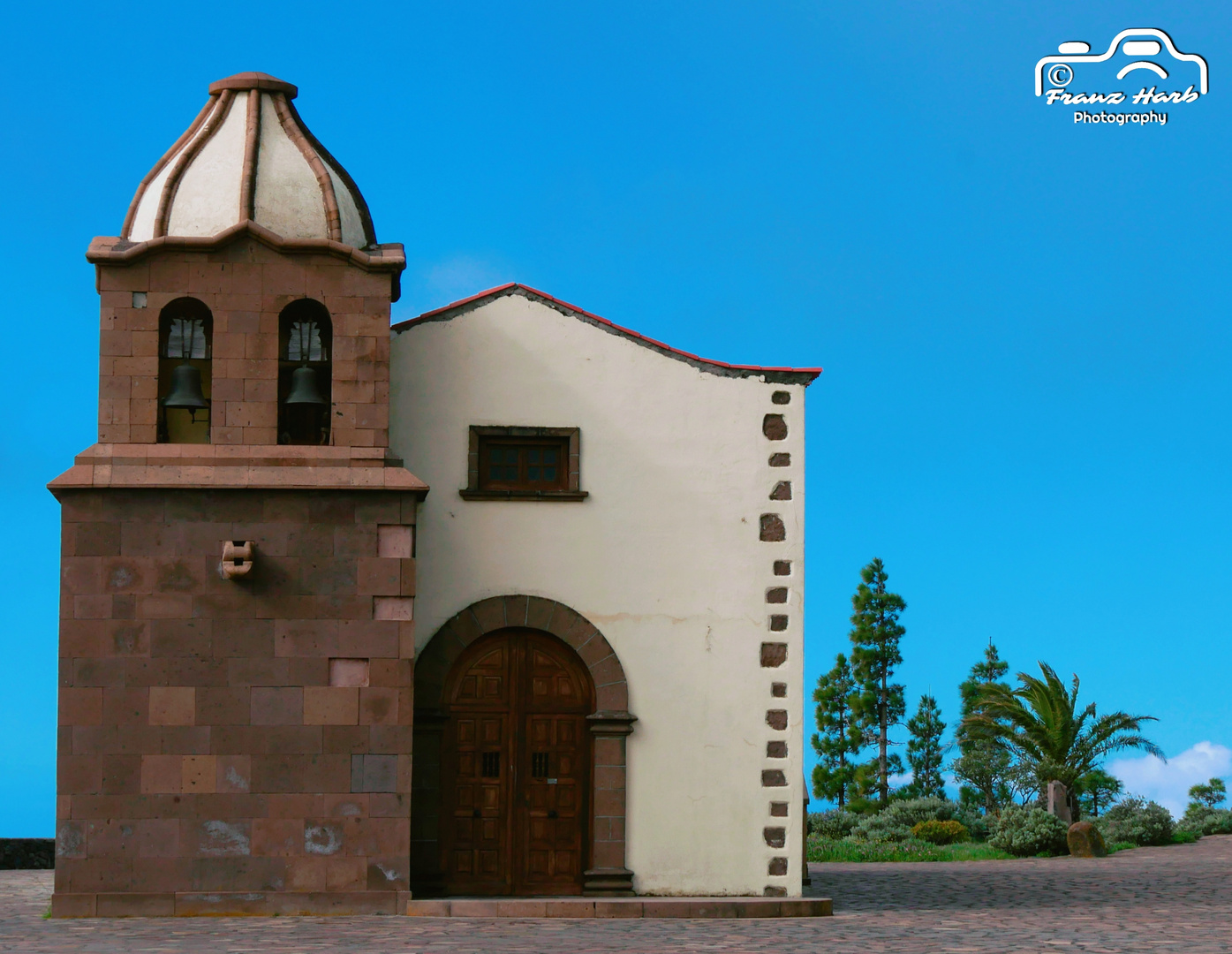 Spanien, Kanarische Inseln, La Gomera, Mirador de Igualero: Kleine Kapelle