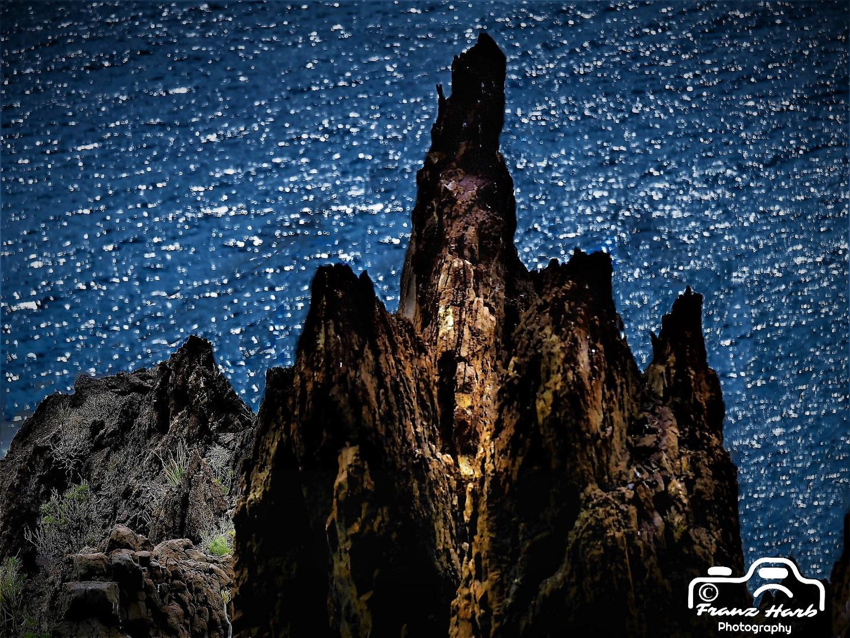 Spanien, Teneriffa: Vulkanlandschaft irgendwo am Atlantik