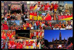 Spanische Fans beim Em-Finale in Wien
