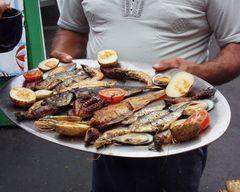 Spanische Fischplatte auf Teneriffa