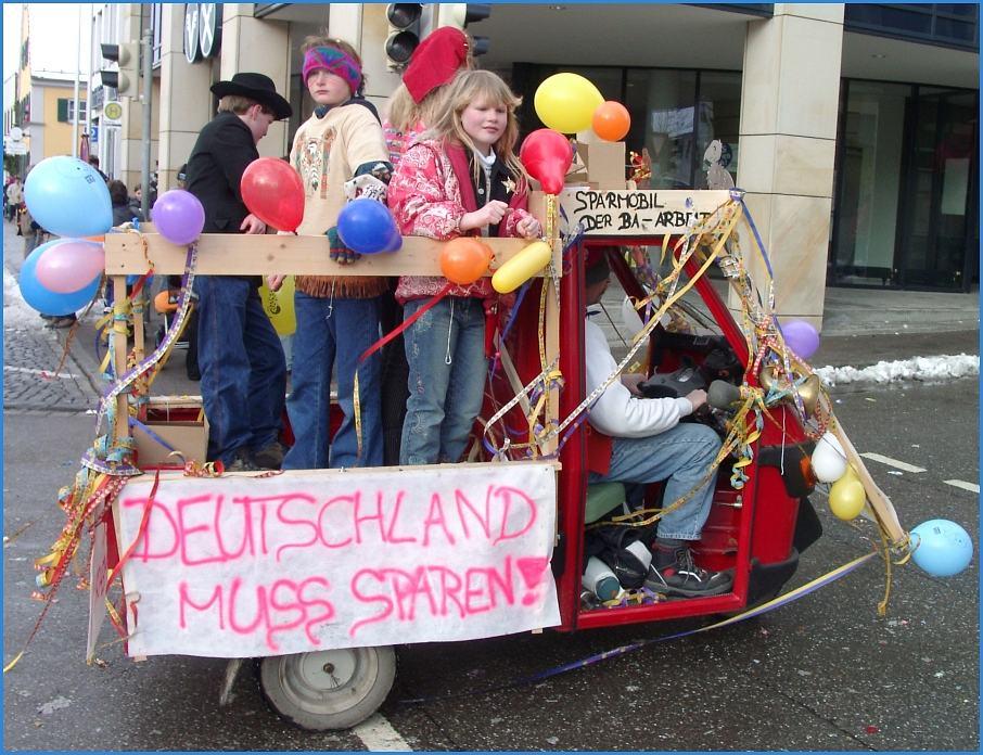 Sparmobil - Deutschland muss sparen!