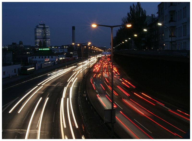 Spass auf der Stadtautobahn