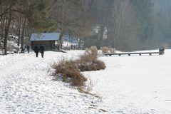 spazieren im Winter