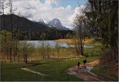 Spaziergänger am Geroldsee