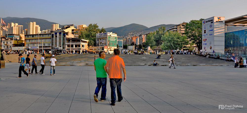 Spaziergang in Bursa, Türkei