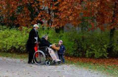 Spaziergang(fahrt) im Herbst