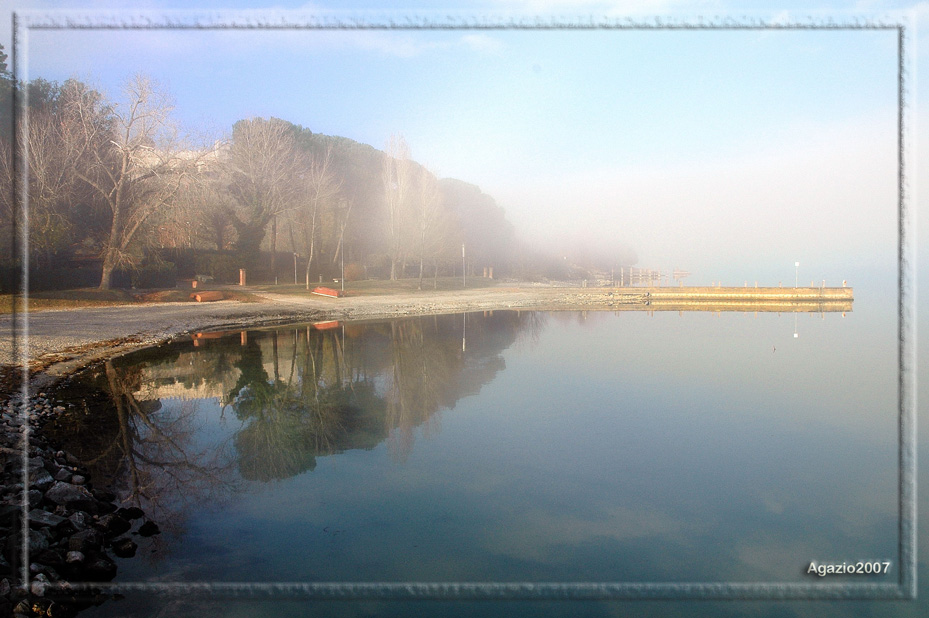 specchio con nebbia