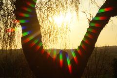 Spectralfarben test eines Sonnenuntergang