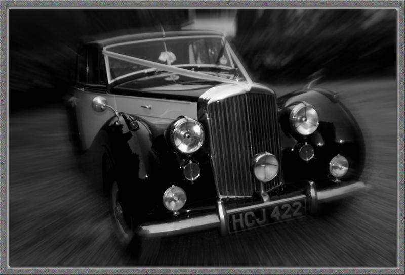 Speedy wedding car