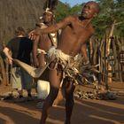 Speerwerfen im Schakaland in Südafrika