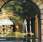 Spegeltag- Der Brunnen im Foyer