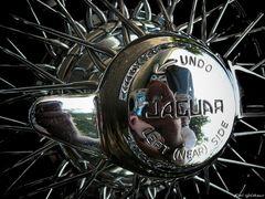 Speichenrad eines Jaguar E