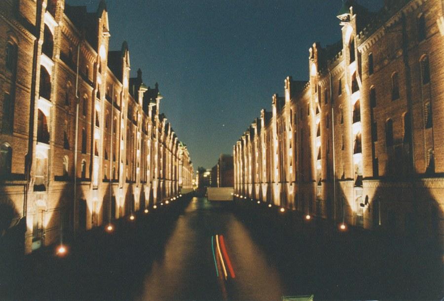 Speicherstadt bei Nacht