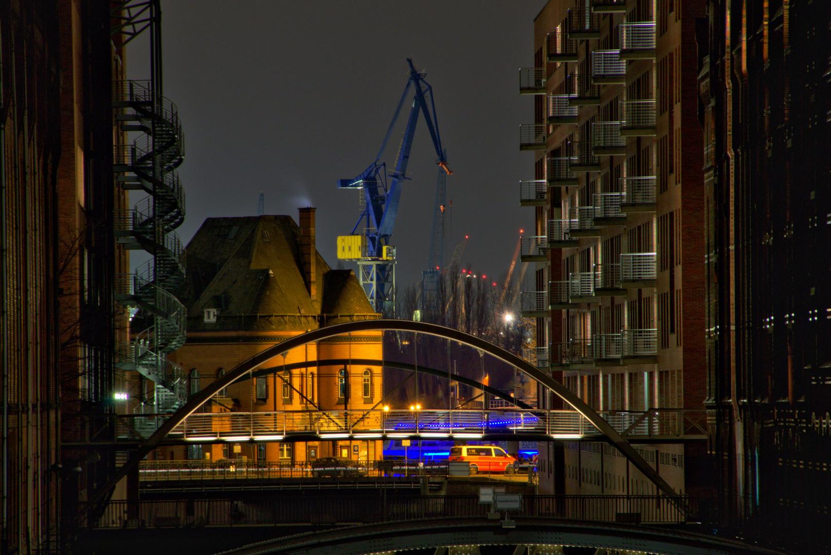 Speicherstadt bei Nacht I
