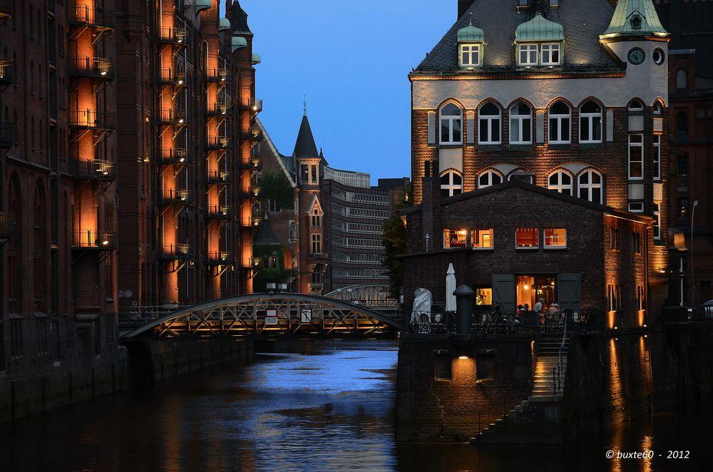 Speicherstadt Hamburg - Blaue Stunde