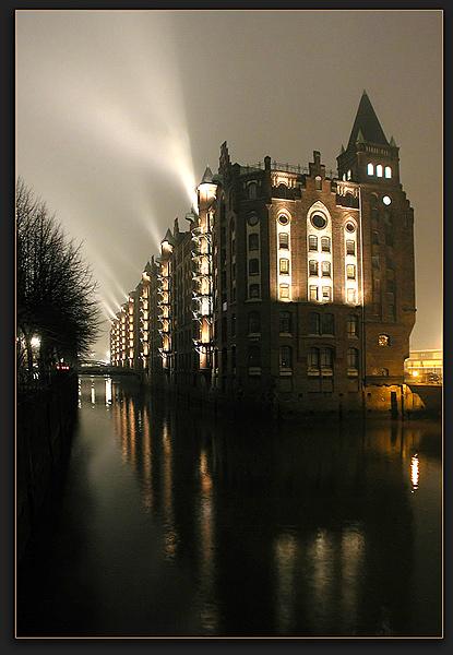 Speicherstadt Hamburg...gestern Abend.