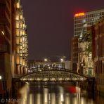 Speicherstadt von der Osaka-Allee-Brücke FB