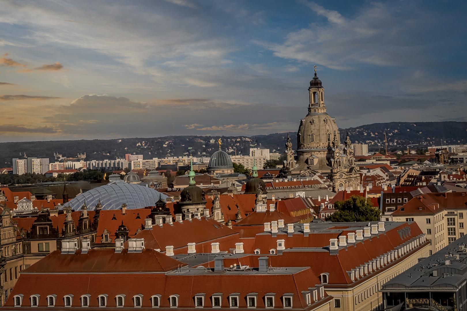 Spektakulärer Blick auf Dresden
