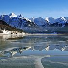 Spezielle Stimmung am Sihlsee bei Einsiedeln (Schweiz)