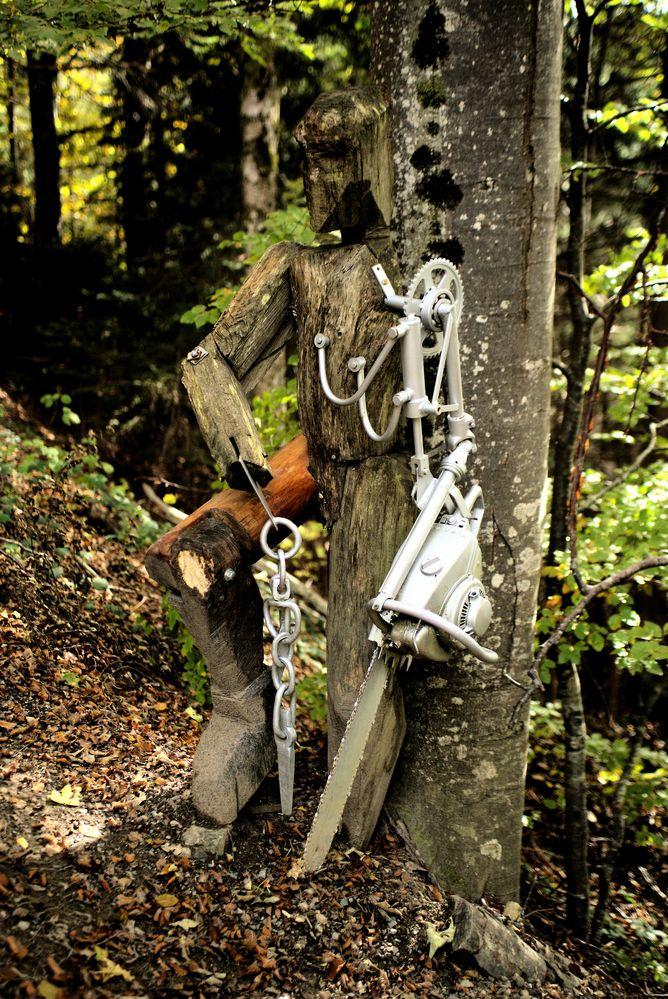 Spezieller Waldarbeiter 2 macht Pause