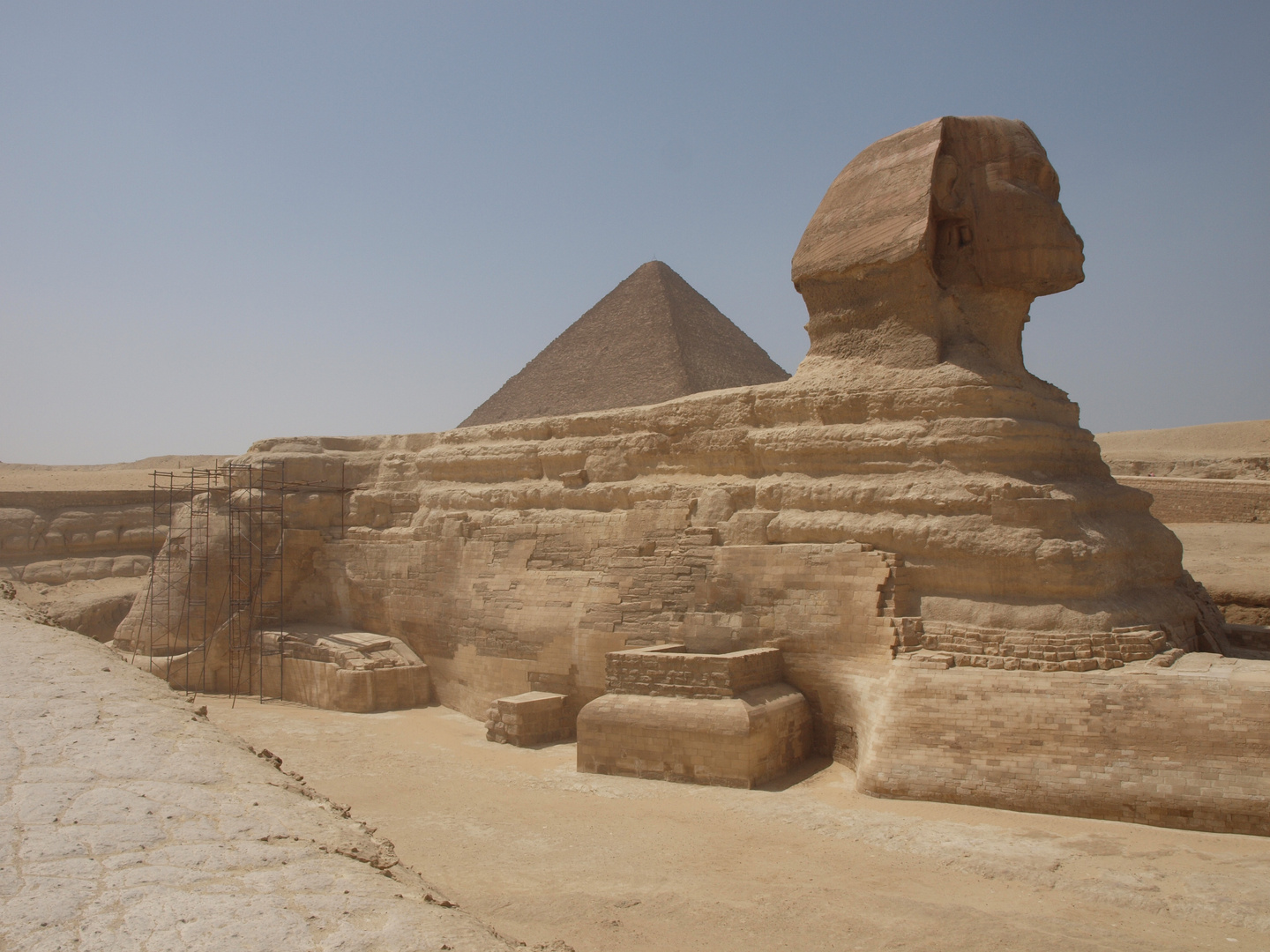Sphinx with Pyramide