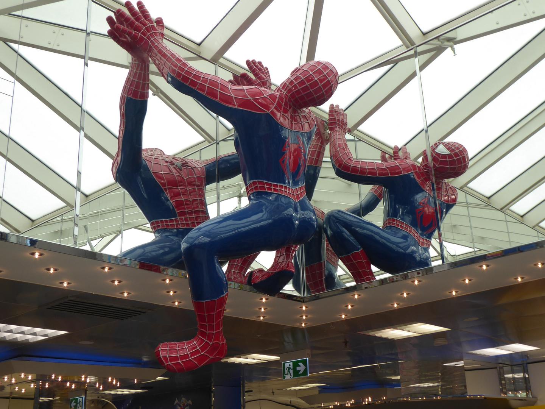 Spiderman trifft man auch manchmal...