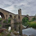 Spiegel Brücke in Besalu 4, Pont of Besalu, Puente en Besalu (E 1513),