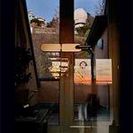 Spiegelblick und Durchblick vom hinteren Balkon zur Sternwarte