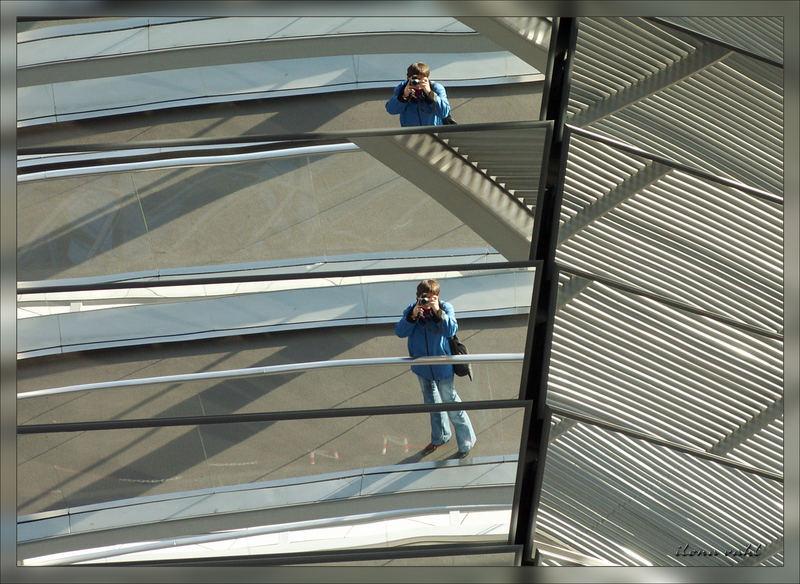 Spiegeleien im Reichstag