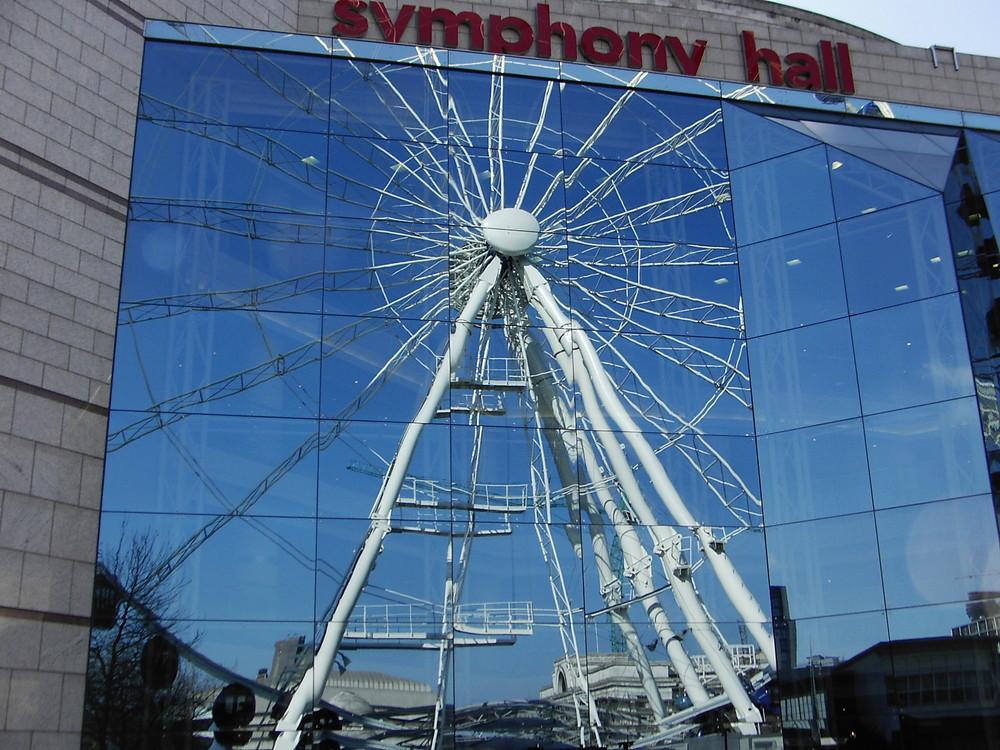 Spiegellungen, Riesenrad in Birmingham 1