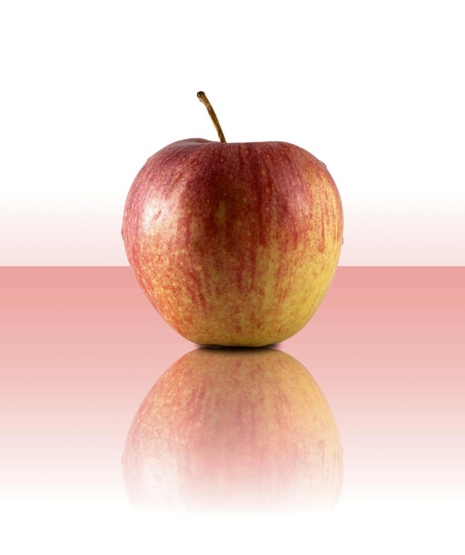 spiegelnder Apfel