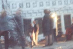 Spiegelpyramide im Schloßhof des Schloßtheaters zu Dresden