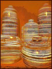 Spiegeltag- Formen und Linien mit Lichteffekten