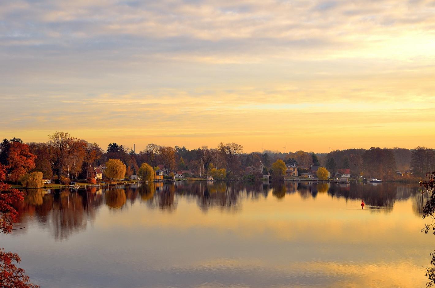 Spiegeltag, Goldener See, Golden Sea, Lago del Oro