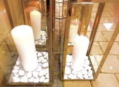 Spiegeltag- Laternen mit Kerzen