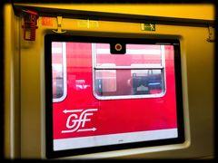Spiegeltag- Unser Zug in den Fenstern gegenüber