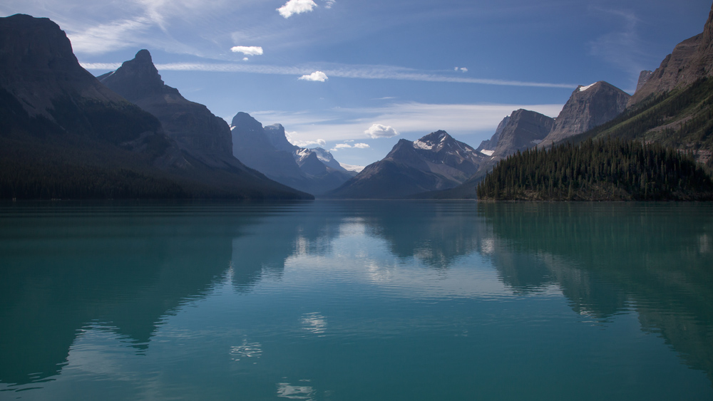 Spiegelung am Maligne Lake