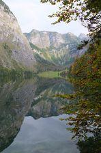 Spiegelung am Obersee vom Königssee
